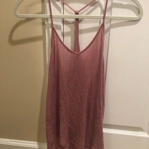 Urban outfitters pink racerback tank
